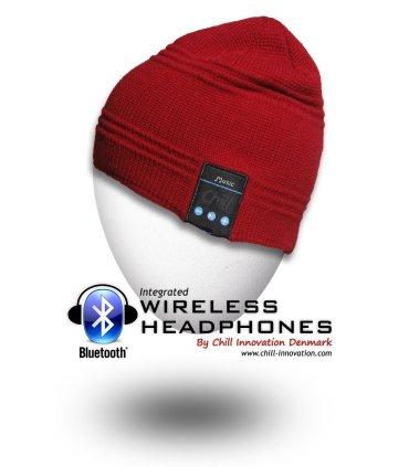 Chill trådløs Bluetooth Hodetelefon Lue, Rød