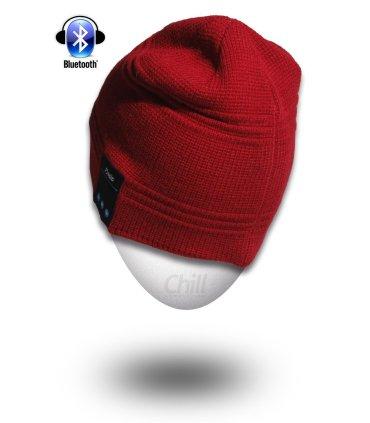 Chill drahtlose Bluetooth Kopfhörer Mütze, Rote