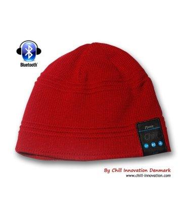Chill trådlös Bluetooth hörlurar mössa, Röd
