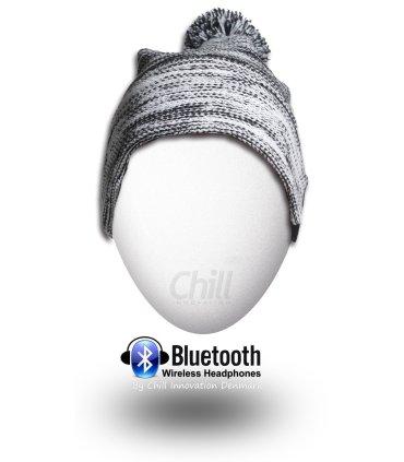 Chill trådlös Bluetooth hörlurar mössa, svart / vit