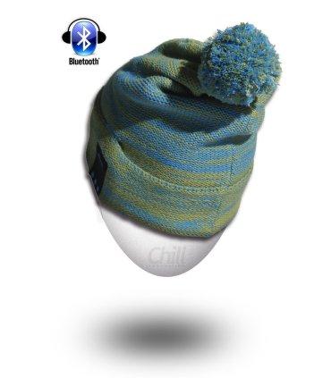 Chill trådløs Bluetooth høretelefon hue med Fleece. Grøn / blå