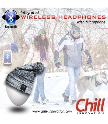 Chill trådlös Bluetooth hörlurar mössa med Fleece, grön / blå