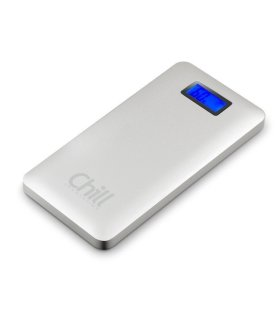 Chill 9000mAh Dual USB PowerBank, Aluminium, LCD, PB-9000