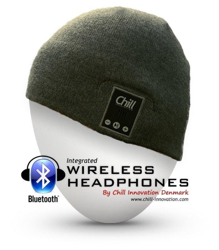 Chill trådløs Bluetooth høretelefon musik hue, Grå
