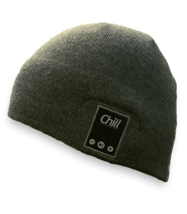 Chill drahtlose Bluetooth Kopfhörer Mütze, Grau