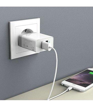 Chill Dual USB strømforsyning / adapter, Kraftig 5V/3.4A, EU plugg