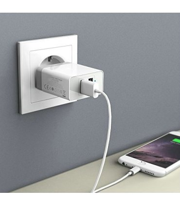Chill 2-port USB oplader/strømforsyning. Kraftig 5V/3.4A, EU/Dansk stik