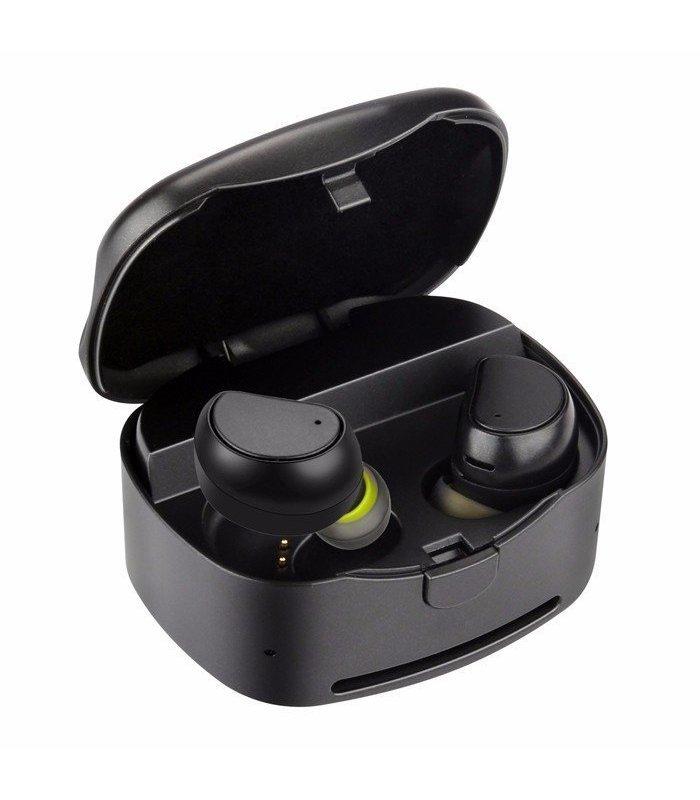 Chill trådlöse TWS Bluetooth 4.1 Sport hörlurar med laddningsbox, Svart