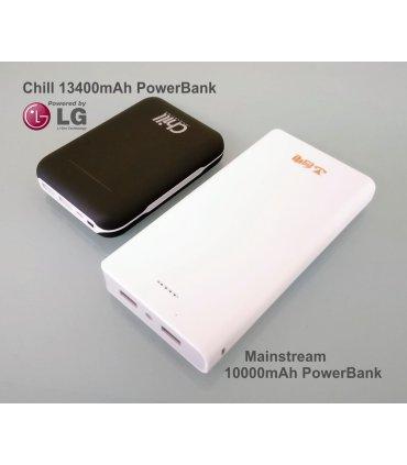 Chill 13400mAh Dual USB Strömbank, LG Li-ion, PB-13400