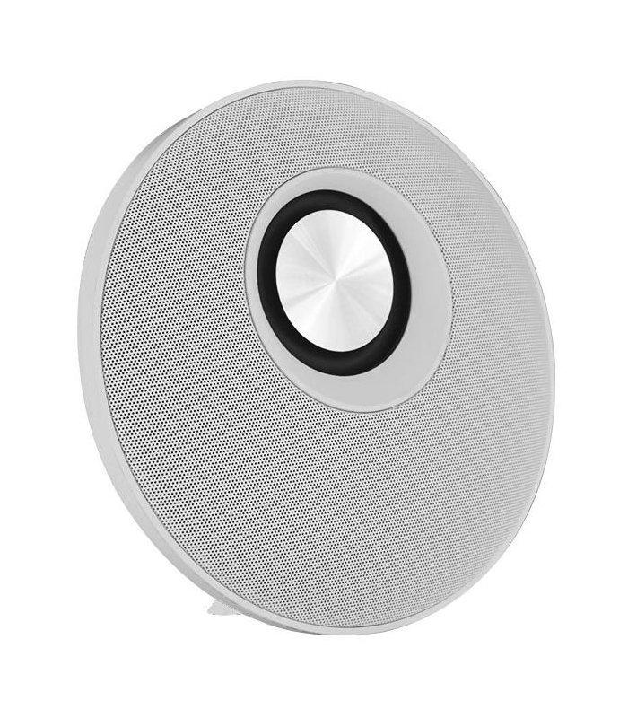 Chill Fidelity E50 rund trådløs Bluetooth Stereo Højtaler, Hvid