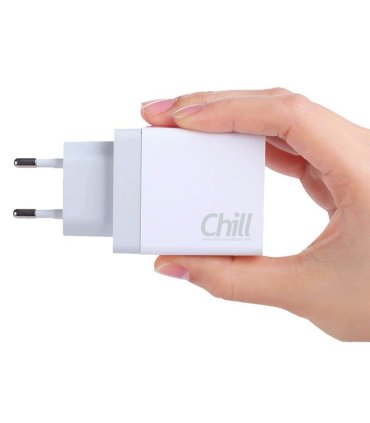 Chill Dual USB laddare, Kraftig 5V/3.4A, Smart-IQ, EU plug