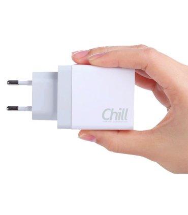 Chill 2-port USB oplader, 5V/3.4A (17W), Smart-IQ, EU/DK stik
