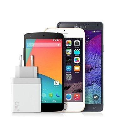 Chill 3-port USB Ladegerät, LED Display, 5V/3.1A, Smart-IQ, EU