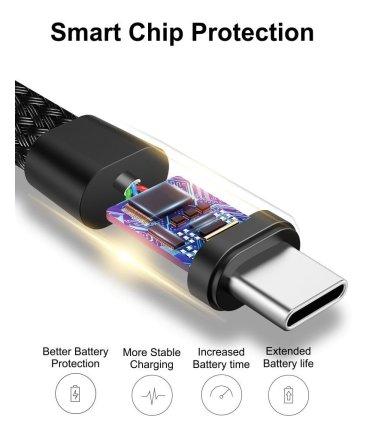 USB Type-C / USB-C kabel, vævet tekstil