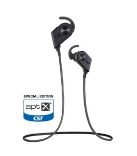 Chill V8 Wireless Bluetooth In-Ear Sport Headphones, AptX Special Edition, Black