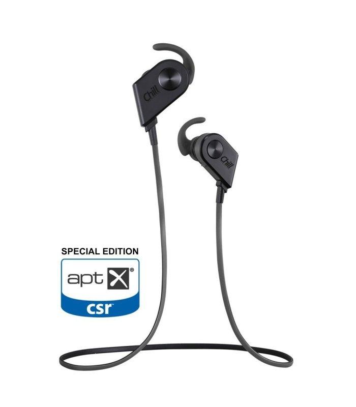 Chill V8 trådlösa Bluetooth Sport In-Ear Hörlurar, Svart