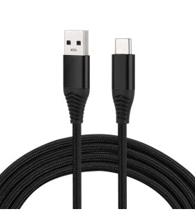 USB Type-C / USB-C cable, braided textile