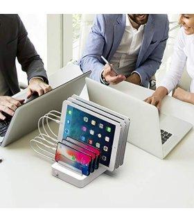Chill Deltaco 6-portars USB Laddstation, 5V/10A (50W), Smart-IQ, EU