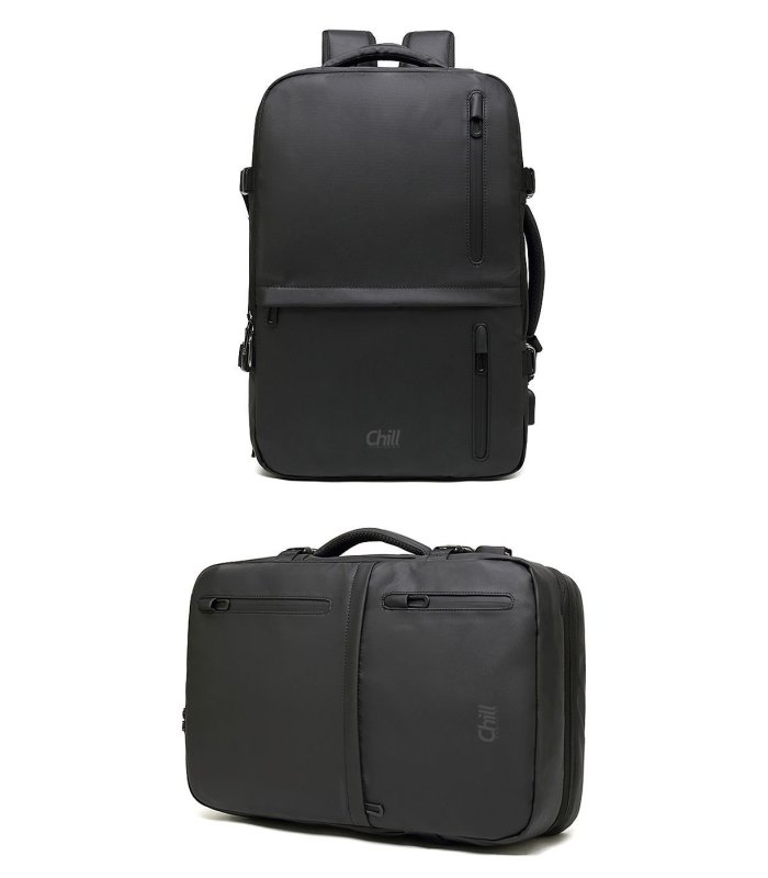 """Chill Fusion 17"""" Laptop Business Bag & Backpack in one"""