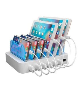6-port USB Charging Station, 5V/10A (50W), Smart-IQ, EU