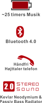 Chill SP-1 Bluetooth Højtaler funktioner