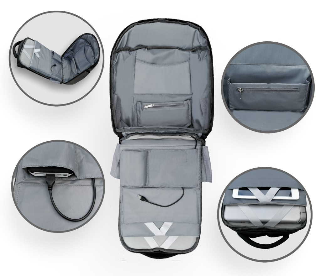 Chill Stealth Backpack - Inside view