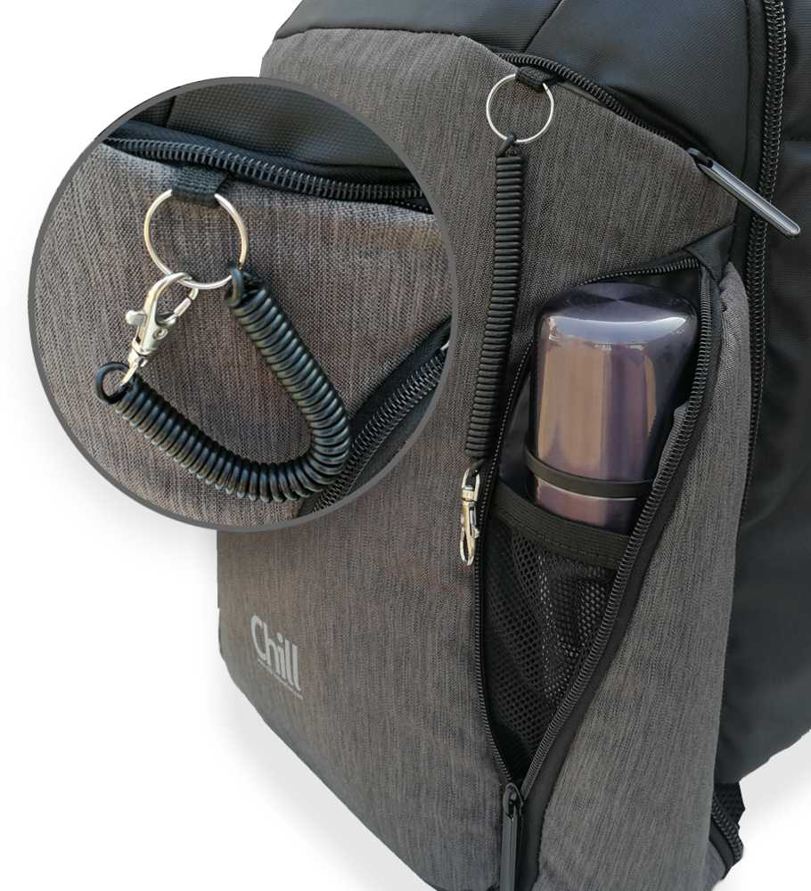 Chill Stealth Backpack - Keychain - Wire - Thermo pockets